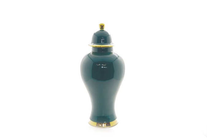 Pote Decorativo Verde Urna Pequeno