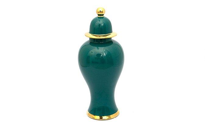 Pote Decorativo Verde Urna  Grande