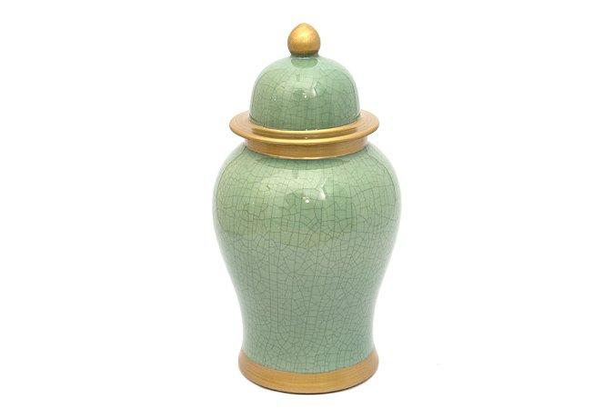 Pote Decorativo Verde Claro Trinca Grande