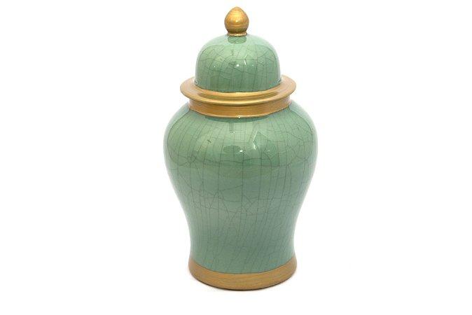 Pote Decorativo Verde Claro Trinca Pequeno