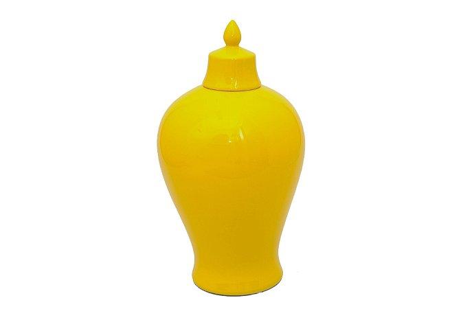 Pote Decorativo Amarelo Aladim Grande