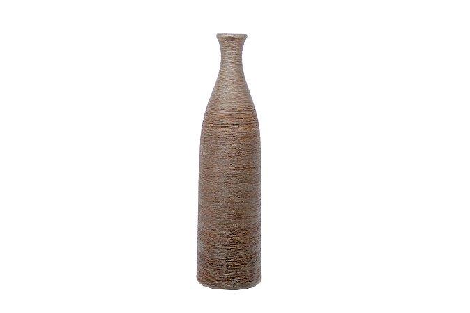 Vaso Decorativo Marrom Textura - Garrafa
