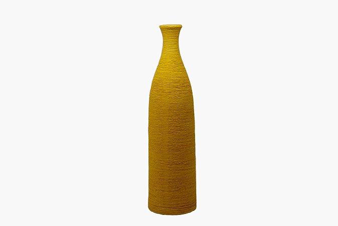 Vaso Decorativo Ocre Textura - Garrafa
