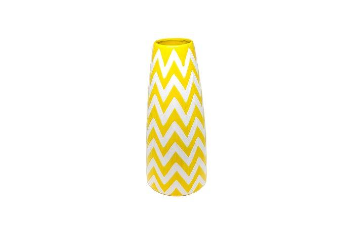 Vaso Decorativo Amarelo Zig Zag Grande