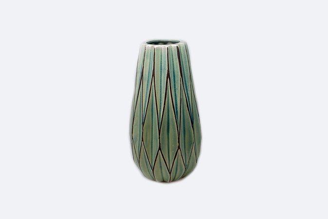 Vaso Decorativo Verde Grass Médio