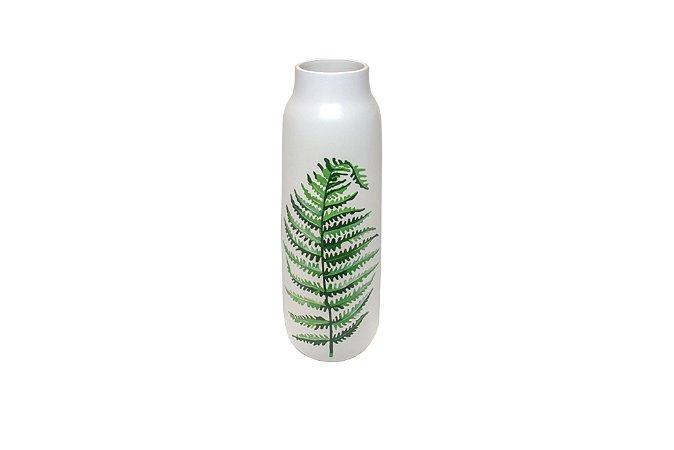 Vaso Decorativo Branco Samambaia