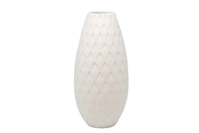 Vaso Decorativo Branco Treliça Alto