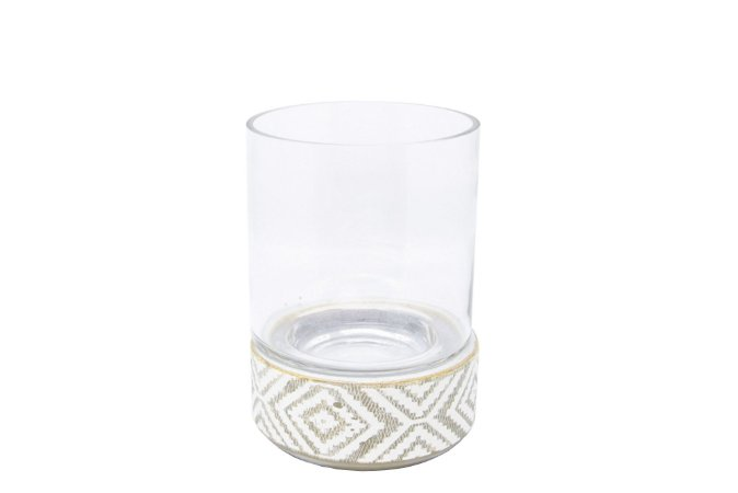Vaso Decorativo Renda