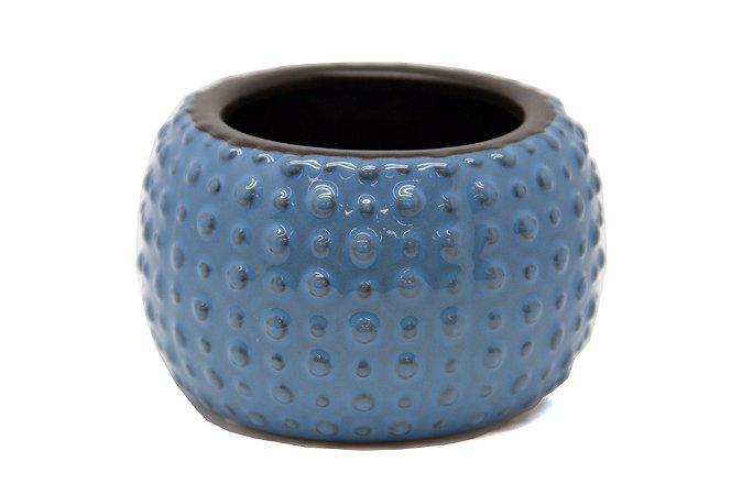 Cachepô Vaso Decorativo Azul-Claro Dots
