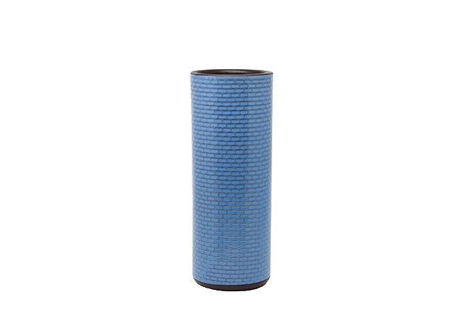 Vaso Decorativo Azul Retângulo