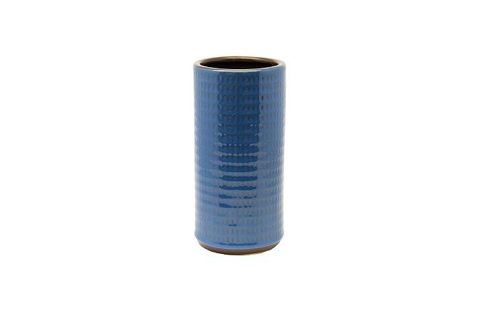 Vaso Decorativo Azul Angulo