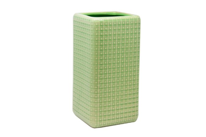 Vaso Decorativo Verde Quadradinho