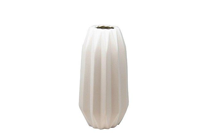 Vaso Decorativo Branco Coluna Grega Médio