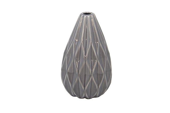 Vaso Decorativo Cinza Gota