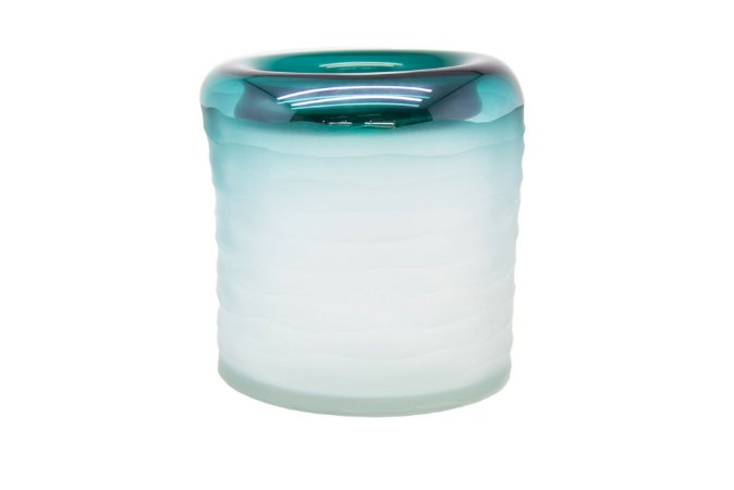 Vaso  Decorativo Verde Degradê Pequeno