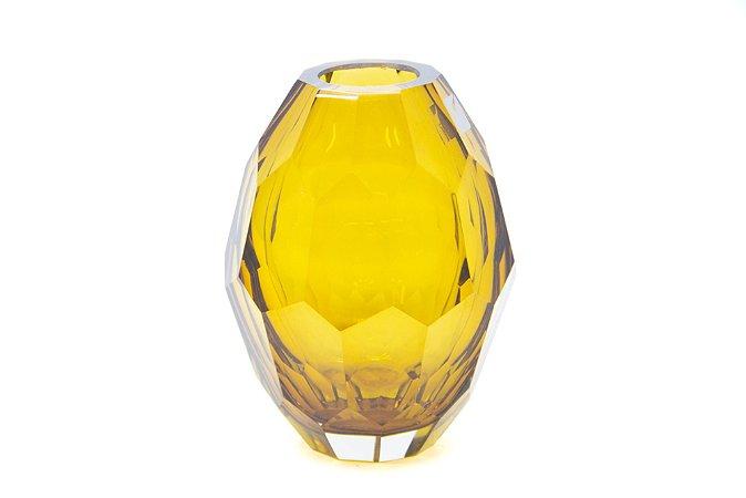 Vaso Decorativo Amarelo Diamante