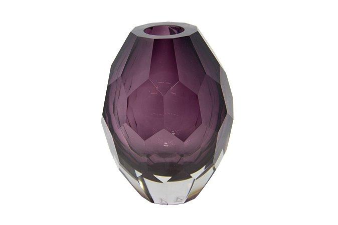 Vaso Decorativo Roxo Diamante