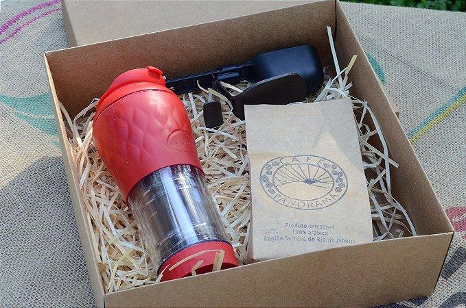 Kit Presente: Pressca + 250 g de café + Dose certa