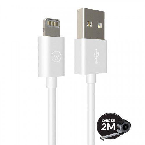 Cabo Lightning MFI iWill 2m Homologado Apple Branco
