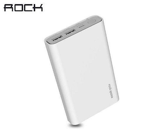Bateria Portátil P16 - 10000mAh 2.4A Quick Charge 2xUSB - Branco