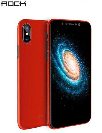 Capa Rock PP Series iPhone X - 0.3mm Proteção 360° - Vermelho