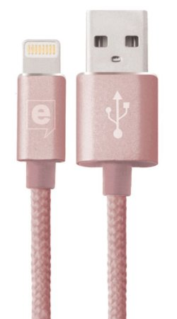 Cabo de Dados Premium Cable Lightning Ouro Rose 2m Easy Mobile