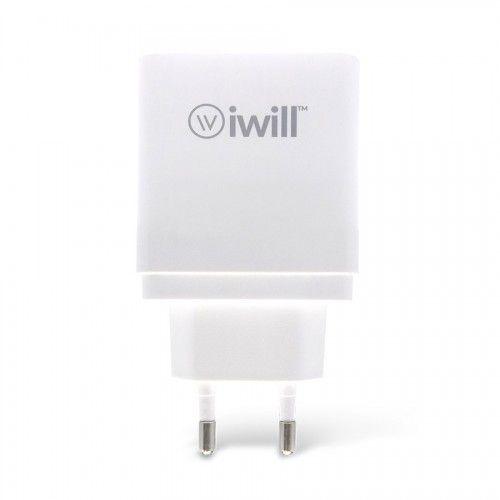 Adaptador de parede com 2 saídas USB da iWill