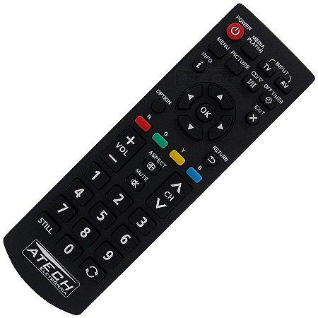 Controle Remoto TV LED Panasonic Viera N2QAYB000823 / TH-39A400 / TH-42A400 / TH-42A408 / TH-42A409 / TH-42A410