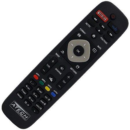Controle Remoto TV LED Philips URMT41JHG006 / 50PFL5901 / 55PFL5601 / 55PFL6900