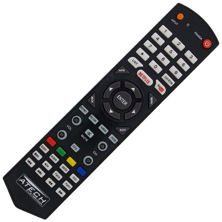 Controle Remoto TV LED Semp Toshiba CT-8063 / 40L2500 / 43L2500 com Netflix e Youtube