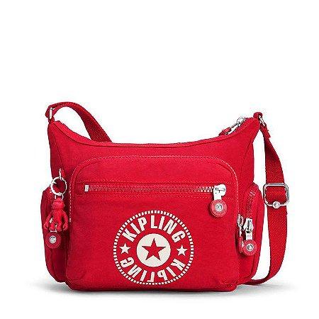 b232a6a0b Bolsa Transversal Gabbie S Vermelha Lively Red Kipling - www ...