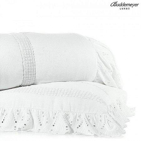 Colcha Queen Buddemeyer Luxus Branco Havana