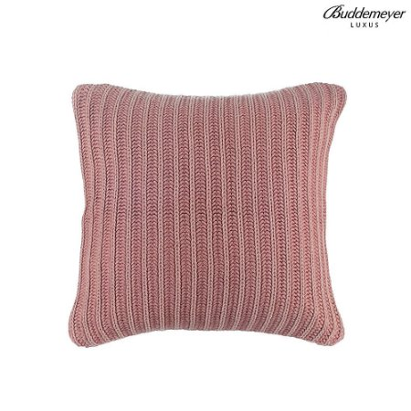 Almofada de Tricot Buddemeyer Luxus Rosa Antigo Bavaro