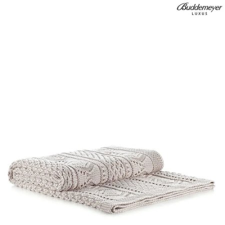 Manta de Tricot Buddemeyer Luxus Newport Arroz