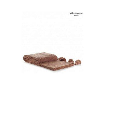 Manta de Tricot Buddemeyer Luxus Tassel Mostarda