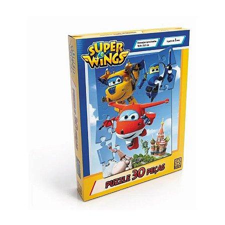 Jogo - Quebra Cabeça Super Wings 30pçs - Grow