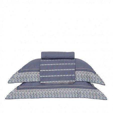 Jogo de Cama King - Bizâncio Azul - Buddemeyer Luxus