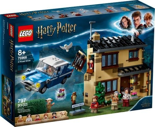 Lego Harry Potter - 4 Privet Drive - Original Lego