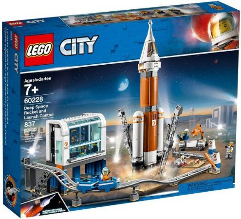 Lego City - Deep Space Rocket and Launch Control - Original Lego
