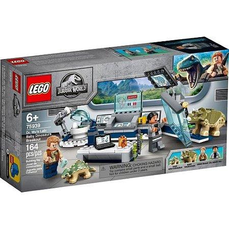 Lego Jurassic World - Dr. Wu's Lab: Bay Dinossaur Brakout - Original Lego