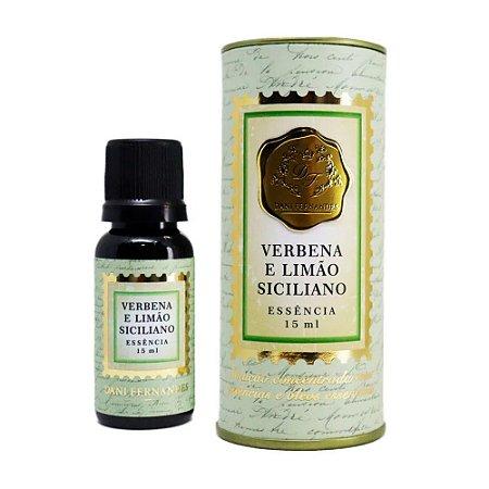 Oleo de Essencia Aromatica - 15ml - Verbena e Limao Siciliano - Dani Fernandes