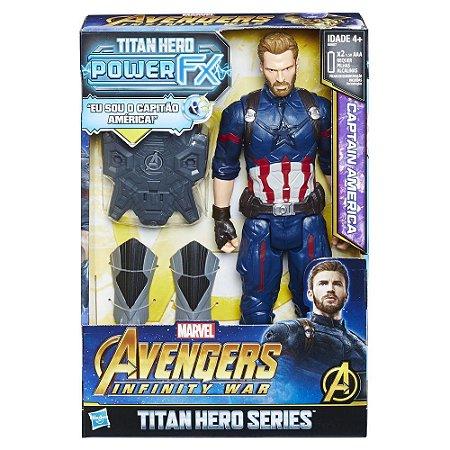Boneco Articulado Eletronico Capitao America Power FX Avengers Infinity War - hasbro