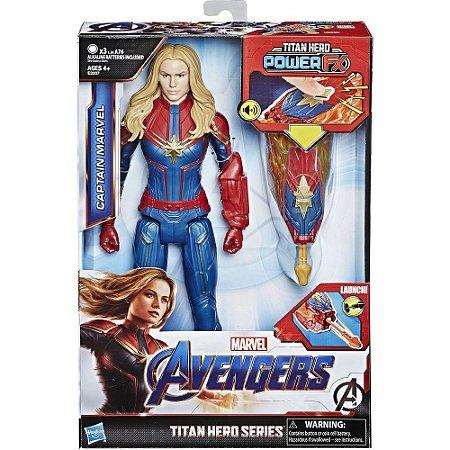 Boneco Articulado Eletronico Capita Marvel Power FX - Hasbro