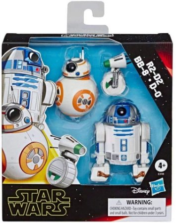 Figuras 7/6/4cm - Star Wars Galaxy of Adventures - R2-D2 BB-8 e D-0
