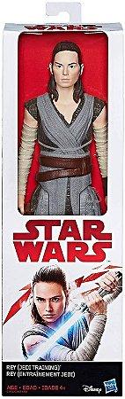 Figuras de Ação Star Wars - Rey (Jedi Training)