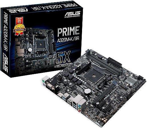 PLACA MÃE AMD ASUS PRIME A320M-K/BR DDR4 AM4