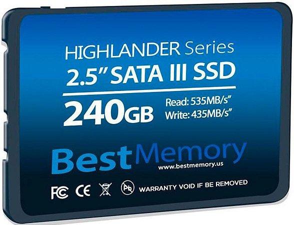 SSD 240GB BEST MEMORY HIGHLANDER SATA III BTSDA-240G-535