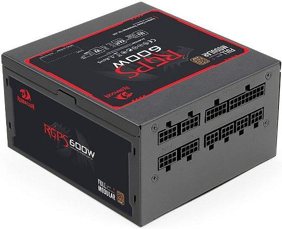 FONTE REDRAGON 600W 80PLUS BRONZE FULL MODULAR RGPS-600W GC-PS003-1