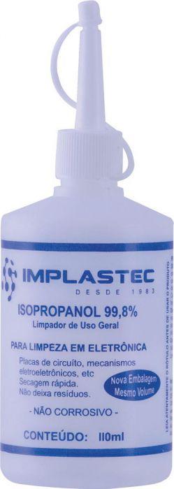 ÁLCOOL ISOPROPÍLICO 110ML IMPLASTEC 99,8%