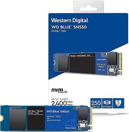 SSD 250GB NVME WD BLUE SN550 M.2 2280 WDS250G2B0C